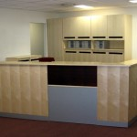 Custom made reception desk at Selver